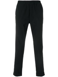 Hydrogen Elasticated Waist Trousers Black