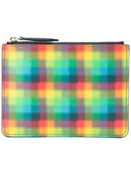 Paul Smith Pixel Effect Zip Pouch Unisex Calf Leather One Size