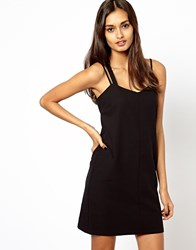 Warehouse Strappy Cami Dress Black