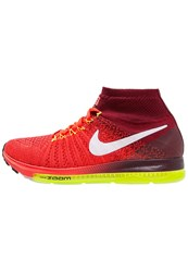 Nike Performance Zoom All Out Flyknit Cushioned Running Shoes Bright Crimson White Team Red Volt