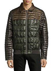 Rainforest Colorblock Full Zip Bomber Jacket Kale