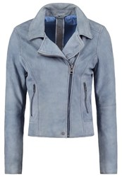 Oakwood Leather Jacket Light Blue