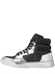 Bruno Bordese 20Mm Textile Mirror Leather Sneakers