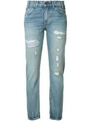 Levi's Distressed High Rise Jeans Blue