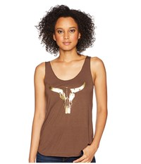 Roper 1771 Polyester Rayon Tank Top Brown Sleeveless