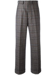 Comme Des Garcons Junya Watanabe Checked Wide Leg Trousers Grey