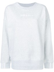 Adidas Embroidered Logo Sweatshirt Grey