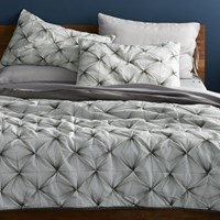 Cb2 Prisma Black White Full Queen Quilt