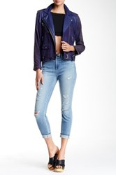 Genetic Denim Runaway High Rise Cropped Jean Blue