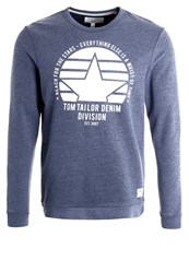 Tom Tailor Denim Sweatshirt Black Iris Blue Dark Blue