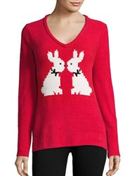 Betsey Johnson Patterned Knit Sweater Ski Patrol