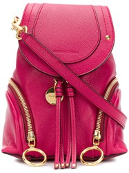 See By Chloe Small Olga Backpack Pink And Purple