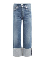 Citizens Of Humanity Cuffed Cropped Jeans Blue