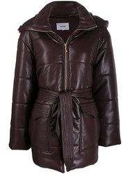 Nanushka Lenox Faux Leather Puffer Coat 60