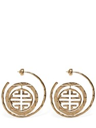 Givenchy 4G Gold Logo Earrings