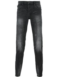 Emporio Armani Dark Wash Tapered Jeans Grey