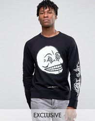 Cheap Monday Black And White Rose Sweater Black