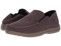 Crocs Santa Cruz Convertible Slip On Espresso Walnut Slip On Shoes Brown