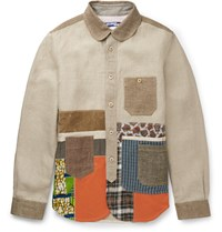 Junya Watanabe Patchwork Linen Canvas Jacket White