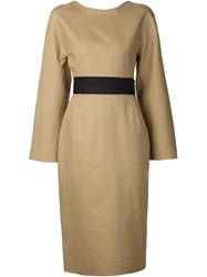 Sofie D'hoore 'Dolce' Wrap Dress Nude And Neutrals