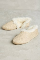 Anthropologie Mila Shimmered Cozy Slippers Pink