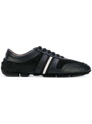 Bally Low Top Lace Up Sneakers Men Calf Leather Leather Rubber 5 Black