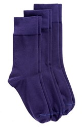 Nordstrom Women's Crew Socks Navy