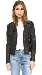 Cupcakes And Cashmere Sid Vegan Leather Moto Jacket Black