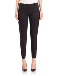 The Kooples Timeless Cropped Stretch Wool Pants Navy