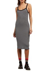 Volcom Rave New World Stripe Dress Black Combo