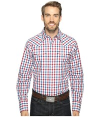 Stetson 0902 Ombre Check Snap Red Men's Clothing