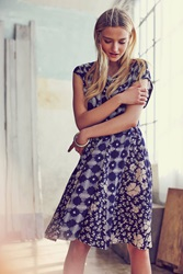 Maeve Indiga Swing Dress Blue Motif