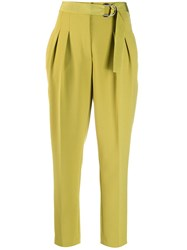 Luisa Cerano Tailored Pleated Trousers Green