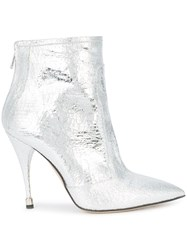 Paul Andrew Heeled Ankle Boots Metallic
