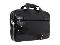 Bosca Old Leather Collection Stringer Bag Black Leather Briefcase Bags