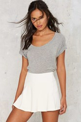 Flip Side Textured Mini Skort White