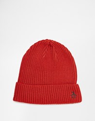 Original Penguin Rib Beanie Hat Orange
