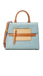 Marc Jacobs Madison North South Satchel Dolphin Blue Multi