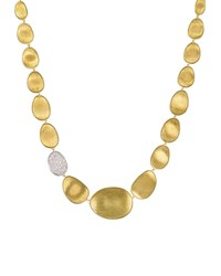 Marco Bicego Diamond Lunaria Collar Necklace In 18K Gold 16.5 White Gold