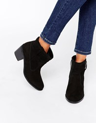 London Rebel Pull On Ankle Boots Black Mf