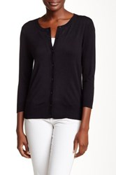 Susina 3 4 Length Sleeve Cardigan Petite Black