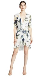 Nicholas Wrap Dress Blue Rose
