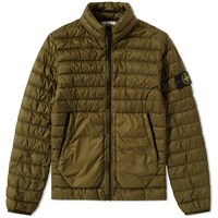 Stone Island Garment Dyed Micro Down Jacket Green