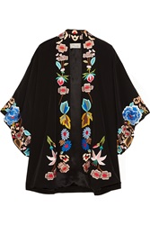 Temperley London Baudelaire Embroidered Silk Kimono