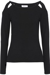 Bailey 44 Better To See You With Cutout Stretch Knit Top Black