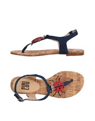 Bibi Lou Toe Strap Sandals Blue
