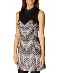 Karen Millen Abstract Plaid Dress Multi