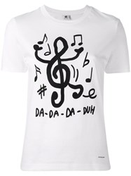Paul Smith Ps By Song Note Print T Shirt White