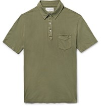 Officine Generale Bd Cotton Jersey Polo Shirt Army Green