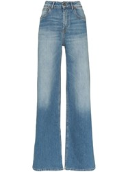 Rockins High Rise Wide Leg Jeans Blue